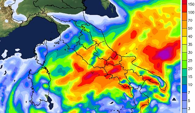 Ciclone Mediterraneo nel week-end, conferme su forte maltempo