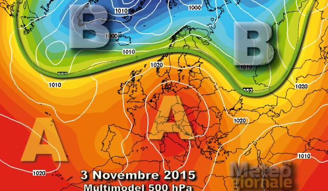 Maltempo al Nord, poi al Sud, e a novembre imponente anticiclone europeo