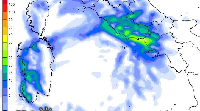In Sardegna pioggia dal pomeriggio: più forti a ovest