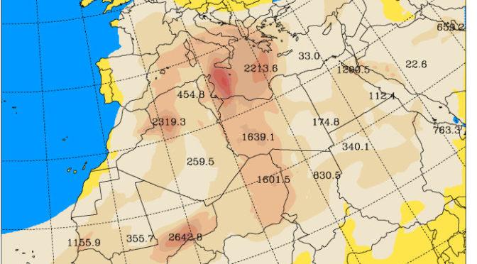Altro carico di polveri desertiche nei prossimi giorni