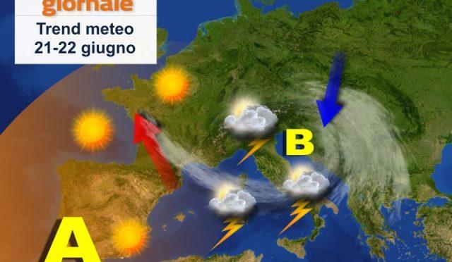 Meteo d'estate: settimana tra temporali pomeridiani e caldo crescente