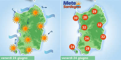 Meteo, sarà piena estate in Sardegna. Anticiclone porterà caldo in aumento
