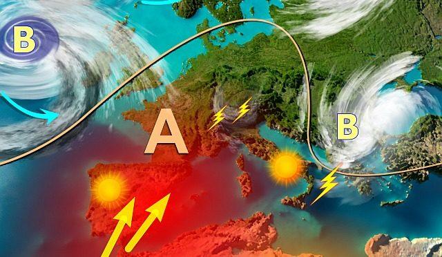 Vortice temporalesco davvero duro a morire, grandi novità meteo a metà mese