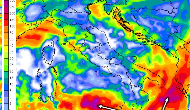 Rischio meteo estremo: sarà una settimana di grandi piogge