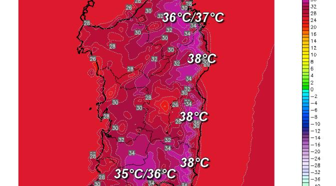 Lunedì raffiche di ponente e super caldo su Cagliari e ad est