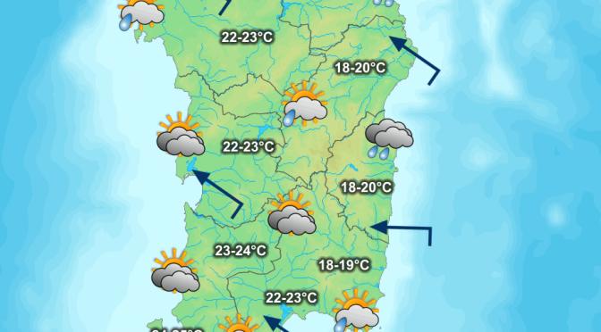 Mite Scirocco, nubi in aumento e piogge a est