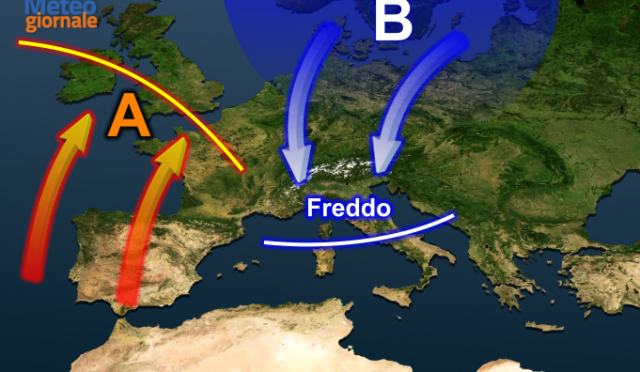 Brusca virata meteo: irruzione fredda invernale dal fine settimana