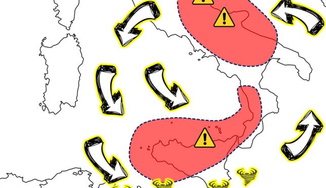 Allerta Meteo, ciclone al Centro/Sud: attenzione alle prossime 36 ore, ecco le zone a rischio estremo [FOCUS]