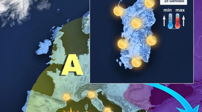 Meteo dominato dall'Anticiclone: la previsione per oggi