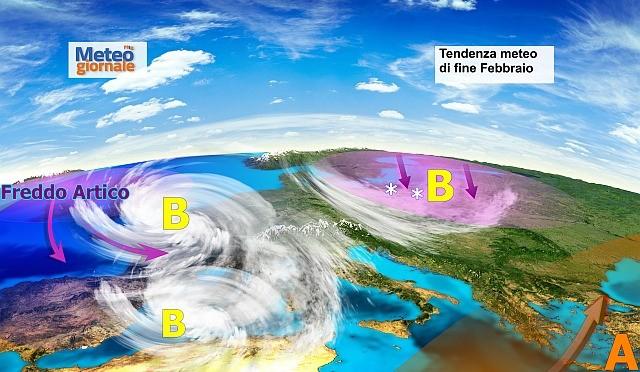 Maltempo invernale in scena a fine febbraio, poi a marzo. Ultime news meteo