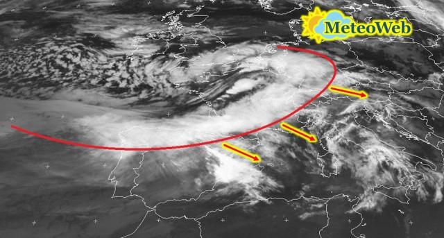 Allerta Meteo, ecco la nuova tempesta atlantica in arrivo sull'Italia: forte maltempo tra stasera e domani