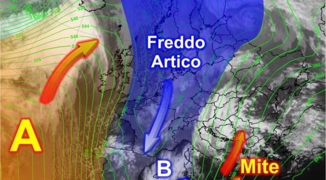 Aria fredda a ovest della Sardegna: si scava il Vortice di Bassa Pressione