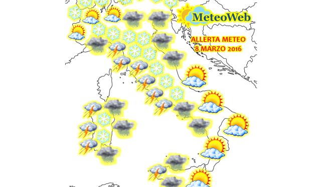 Allerta Meteo, altro che mimosa: per la Festa della Donna arriva la neve fin in pianura [FOCUS]