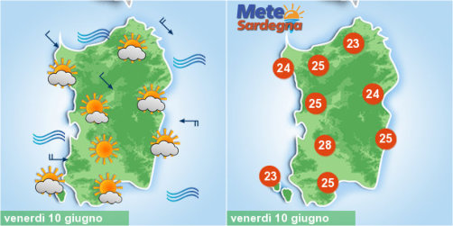 Meteo variabile, ma prevarrà sole. Calo termico e maestrale da domenica