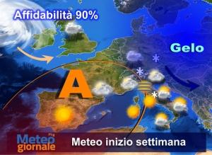Gelo a est e freddo lambisce l'Italia. Novità meteo imponenti in settimana