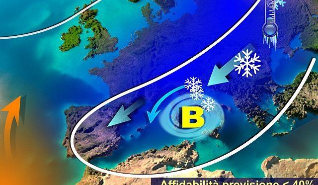 Invasione artica al via, meteo invernale duraturo. Maltempo, freddo e neve